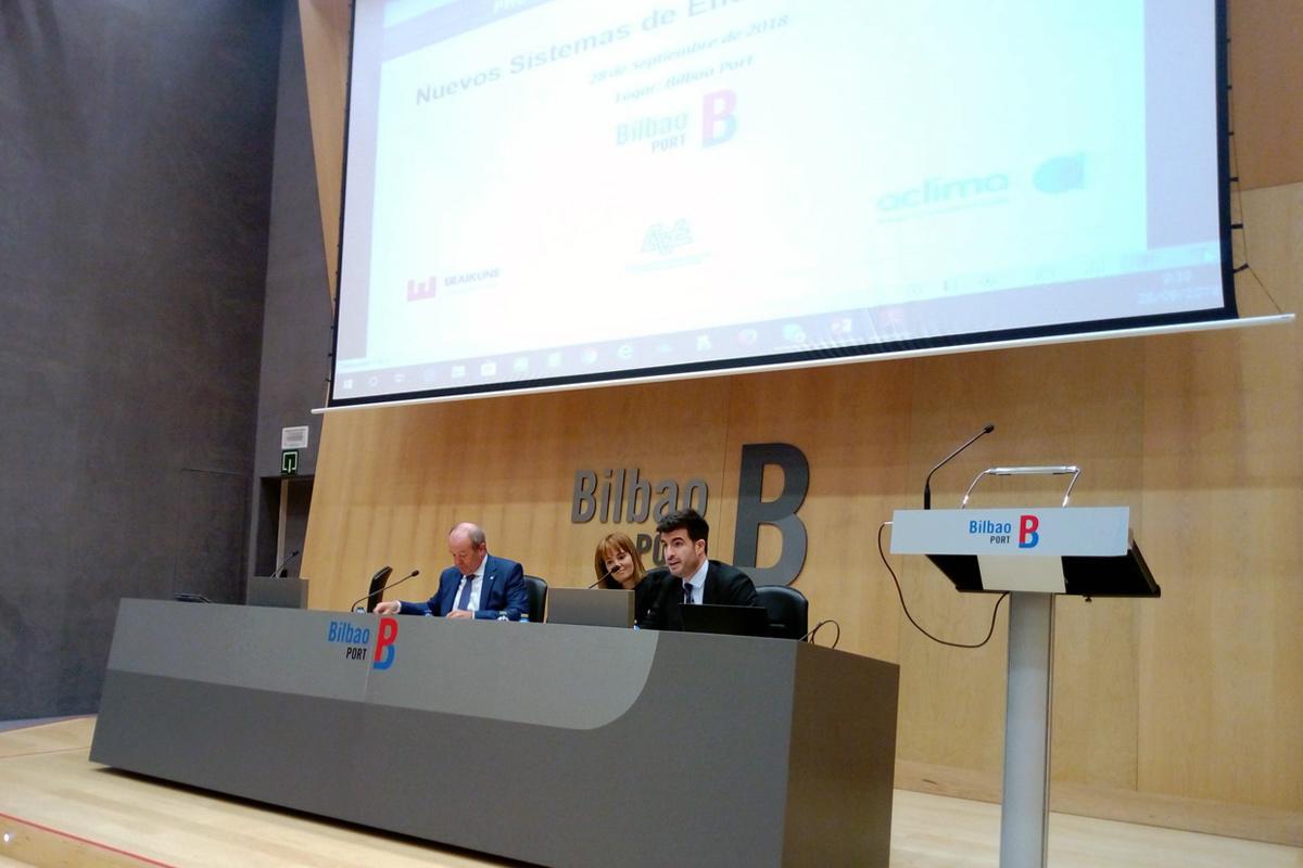 Jornada Nuevos sistemas de eficiencia en la obra, en el Puerto de Bilbao