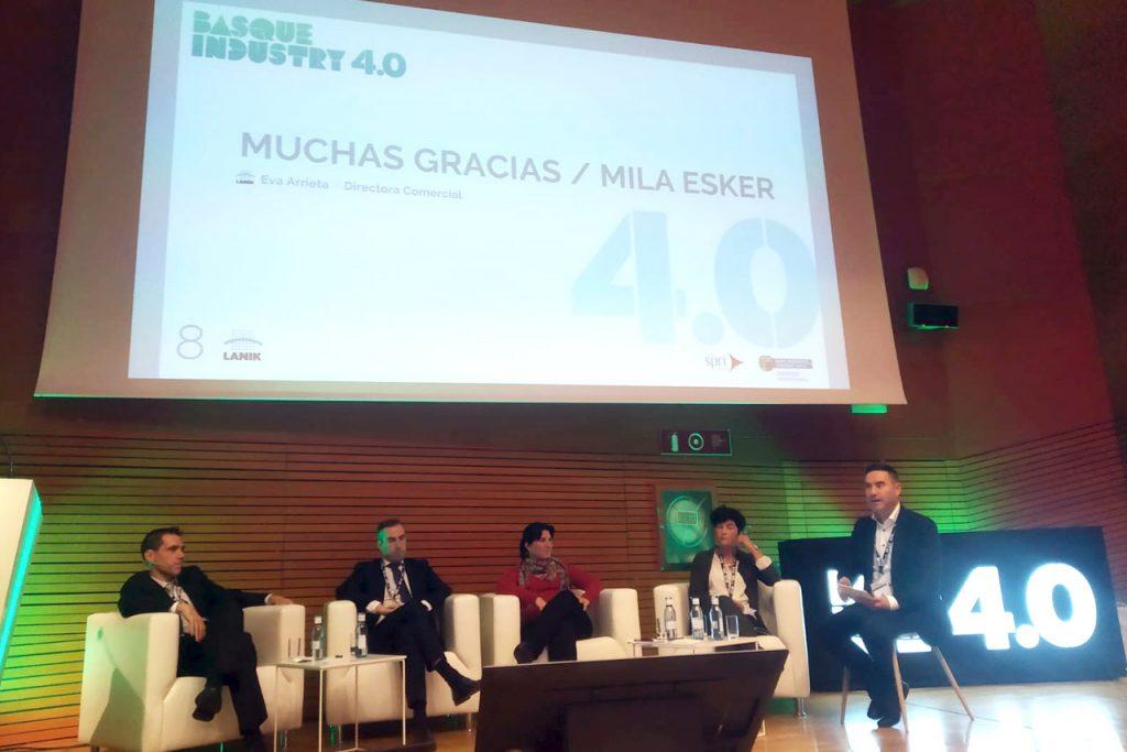 Los socios del Cluster vasco de la Construcción Eraikune Tecnalia, Airlan, Estudios GIS, Arcelor Mittal y Lanik acudieron a la quinta edición del Basque Industry 4.0.