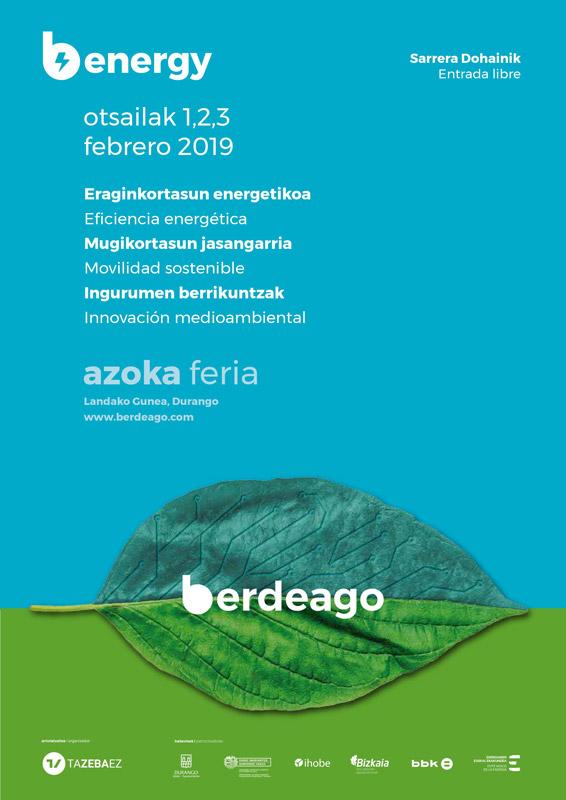 Cartel de la edición 2019 de la Feria Berdeago Energy