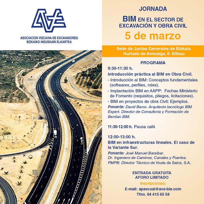 Jornada BIM en el sector de la excavación y la obra civil en Bilbao @ Sede de Juntas Generales de Bizkaia