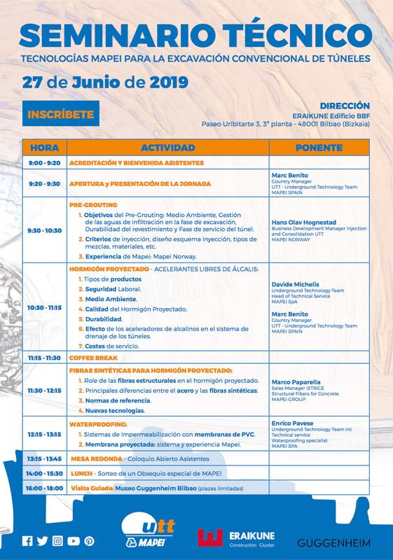 Seminario técnico: Tecnologías para la excavación convencional de túneles @ Eraikune