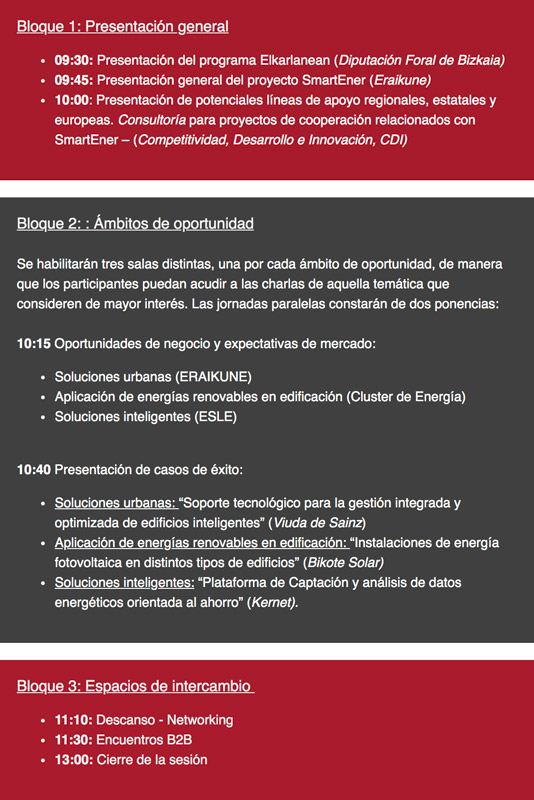 Jornada Proyecto SmartEner - Programa Elkarlanean 2018 @ Sede de Eraikune