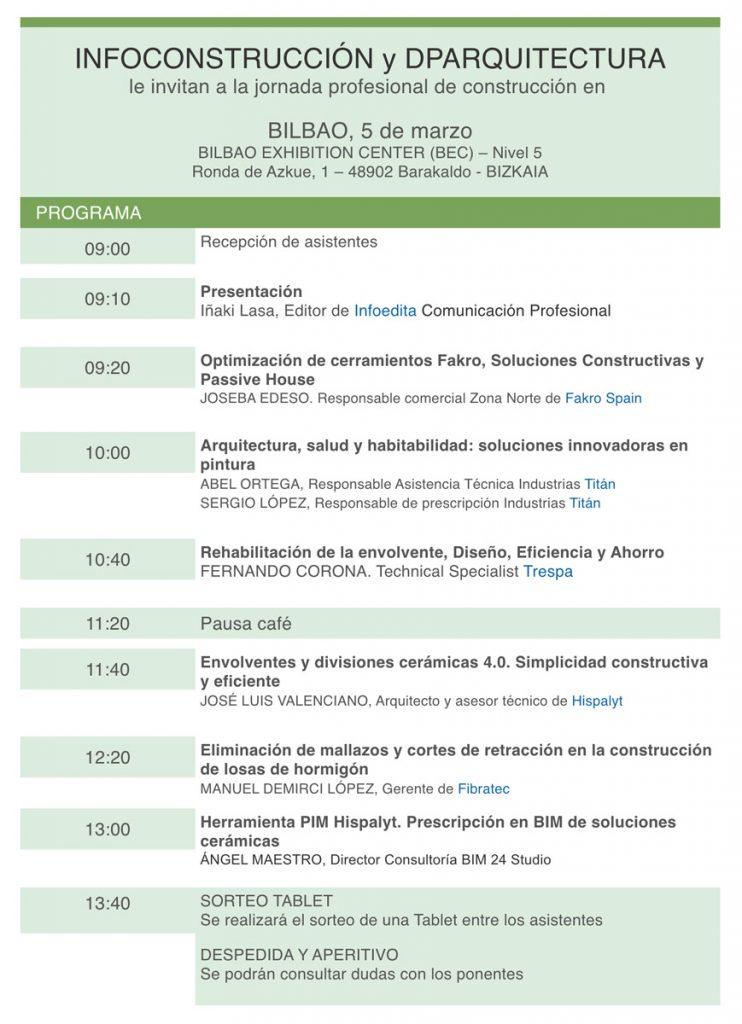 Jornada de Infoconstrucción y DPArquitectura en el BEC (Bizkaia) @ BILBAO EXHIBITION CENTER (BEC) – Nivel 5