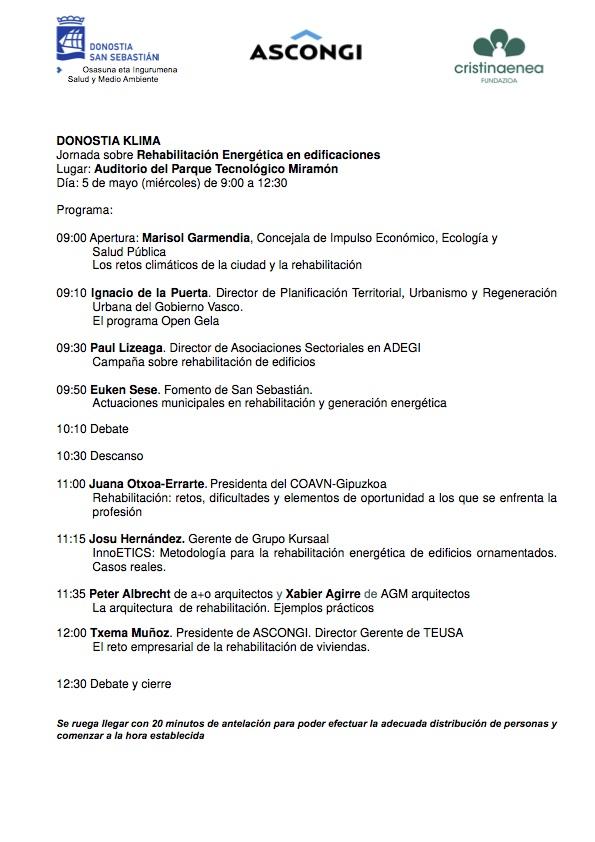 Jornada sobre rehabilitación energética de edificaciones @ Auditorio del Parque Tecnológico de Miramón