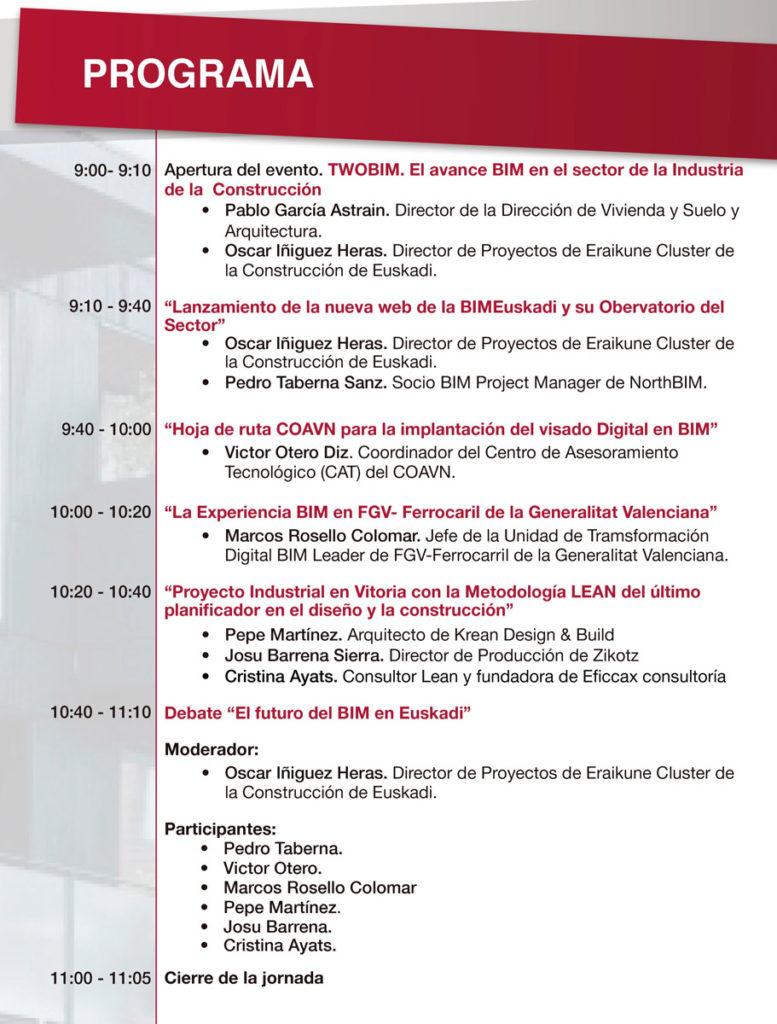 Jornada Online: TWOBIM: El avance BIM en el Sector de la Industria de la Construcción @ Evento Online