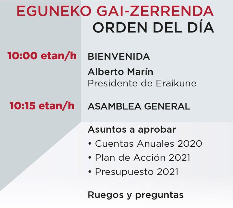 Asamblea General de Socios @ Evento Presencial / Online