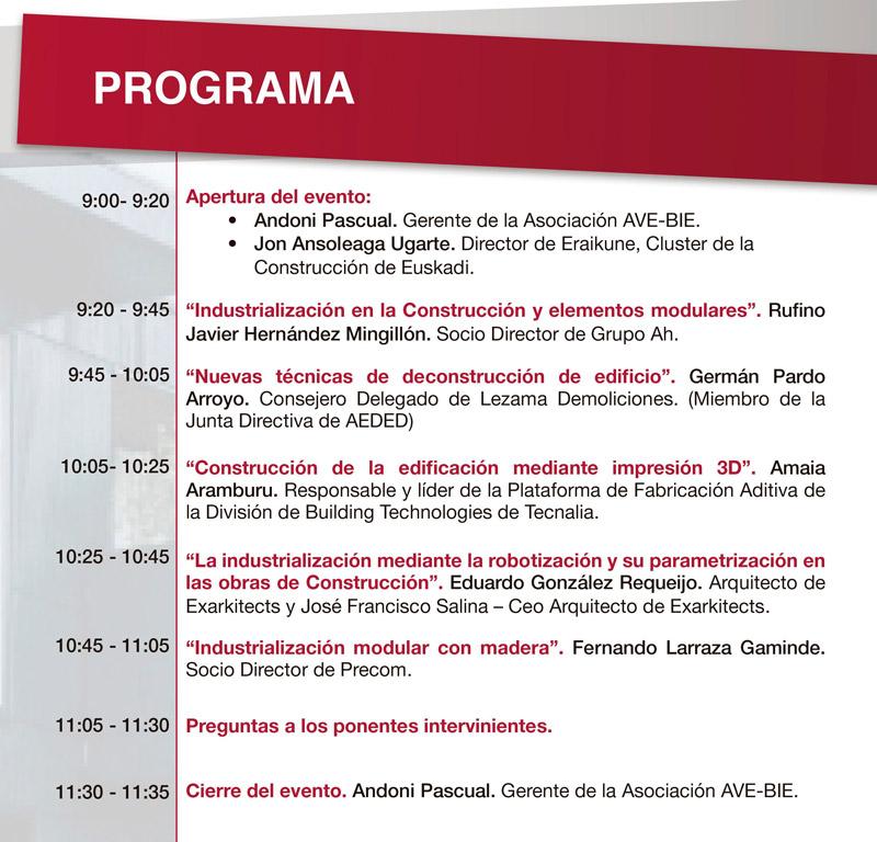 """Jornada online """"Industrialización en la Edificación Residencial"""" @ Evento Online"""