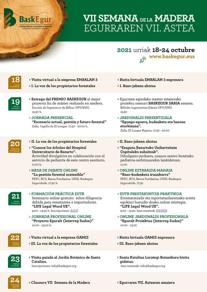 Baskegur celebrará la VII Semana de la Madera del 18 al 24 de octubre @ Evento Online